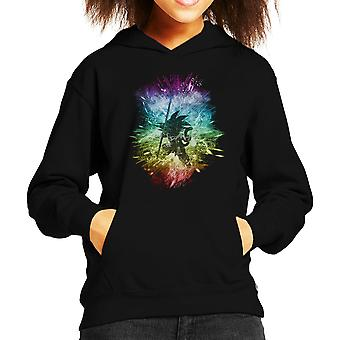 Dragonball Z Goku Rainbow Storm Kid de Hooded Sweatshirt