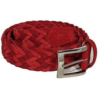 40 Colori Rope and Suede Leather Belt - Red