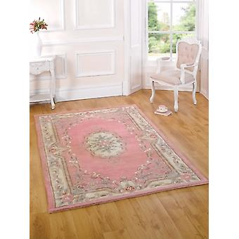 Lotus Aubusson Pink  Rectangle Rugs Traditional Rugs