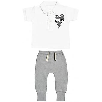 Verwöhnte Rotten Lil Sis Baby Polo T-Shirt & Baby-Jogger-Outfit-Set