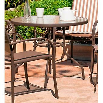 Hevea Table steel barcelona-90 bronce (Garden , Furniture and accessories , Tables)