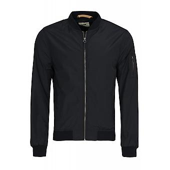 Lee Nailon giacca giacca bomber mens Blouson nero a costine