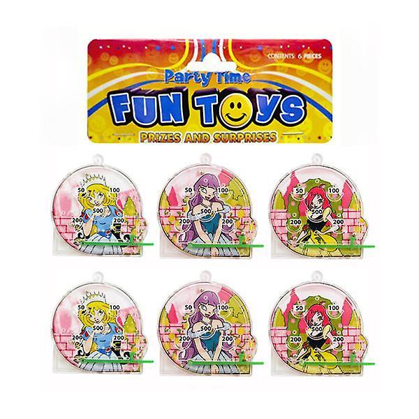 24 Bags of 6 Mini Princess Pinball Puzzles