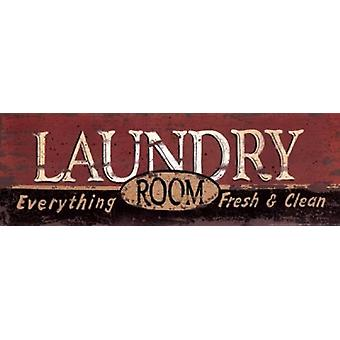 Laundry Room Poster Print by Linda Spivey (18 x 6)