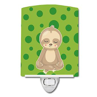 Carolines Treasures  BB9034CNL Sloth Yoga Ceramic Night Light