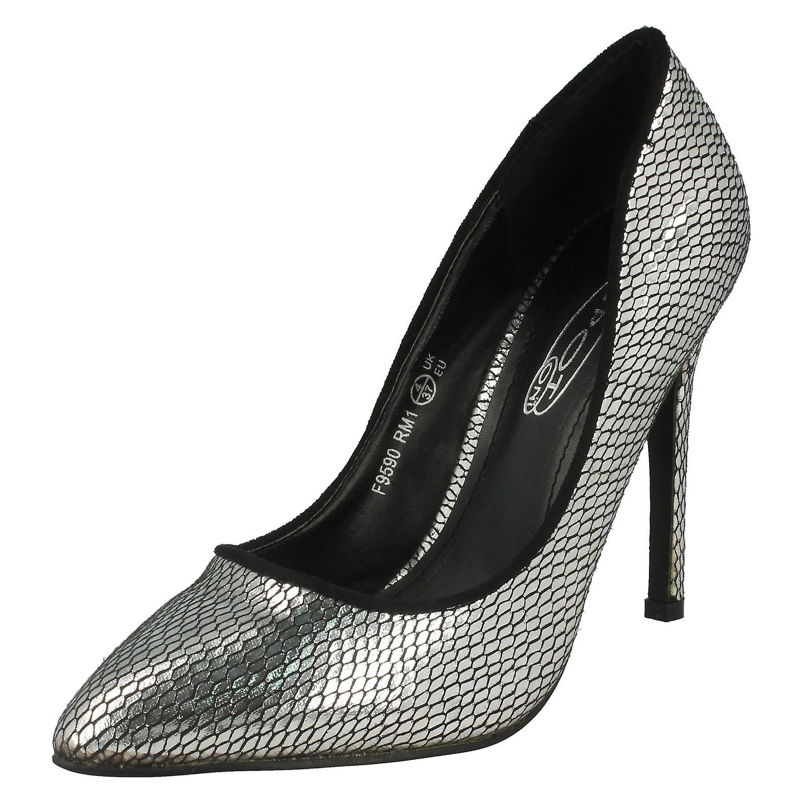 Damen-Spot auf High Heel wies Toe Snake Design Gericht Schuh F9590