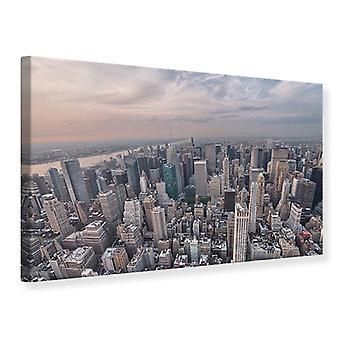 Canvas Print Skyline View Over Manhattan