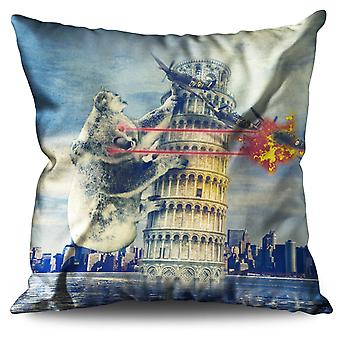 Torre di Pisa di Pisa Torre Italia divertente lino cuscino Italia divertente | Wellcoda