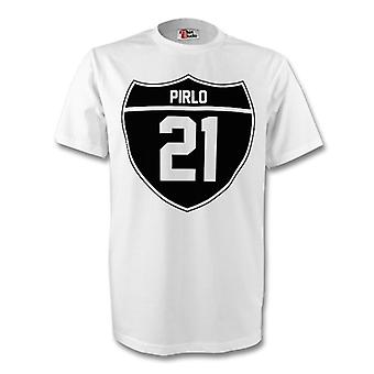 Andrea Pirlo Juventus Crest Tee (white)