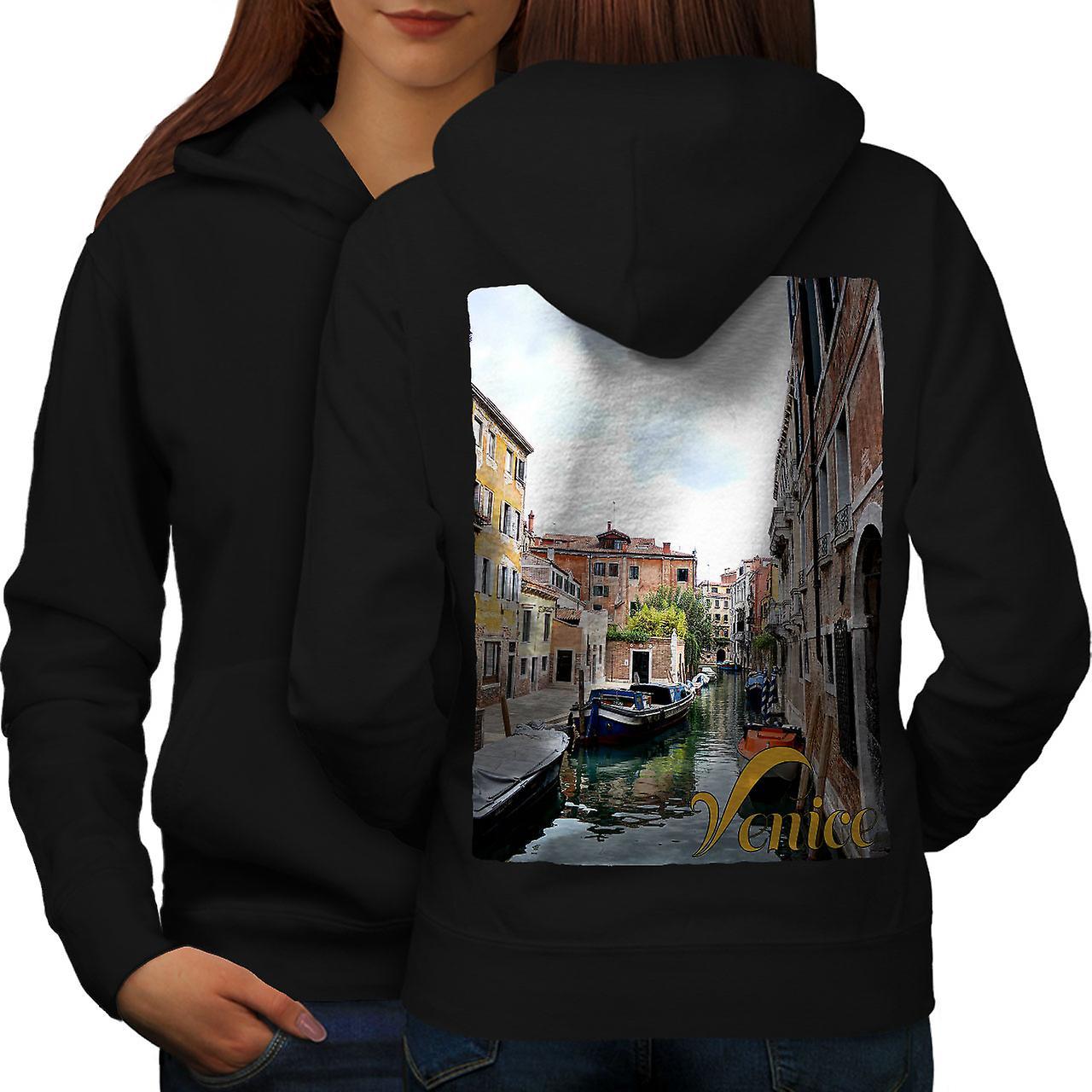 Vieux Canal de Venise Tour dos noirHoodie femmes