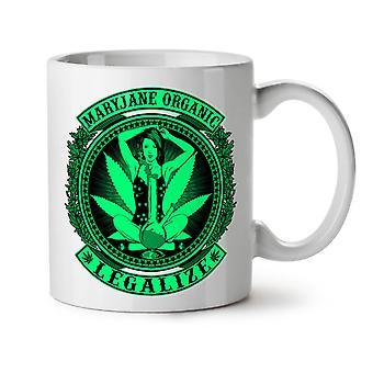 Organic Legalize NEW White Tea Coffee Ceramic Mug 11 oz   Wellcoda