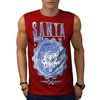 Santa Muerte Männer RedSleeveless T-shirt | Wellcoda