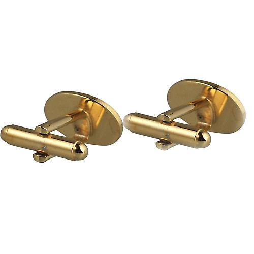Hard Gold Plated 12x17mm oval hand engraved Masonic with G swivel Cufflinks