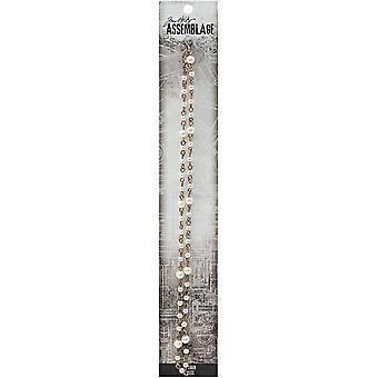 Tim Holtz Assemblage Rosary Chain  -Pearl 18