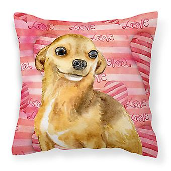 Carolines Treasures  BB9745PW1414 Chihuahua Love Fabric Decorative Pillow