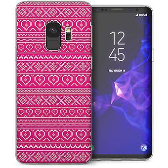 Samsung Galaxy S9 Aztec hjerter TPU Gel sag-Pink