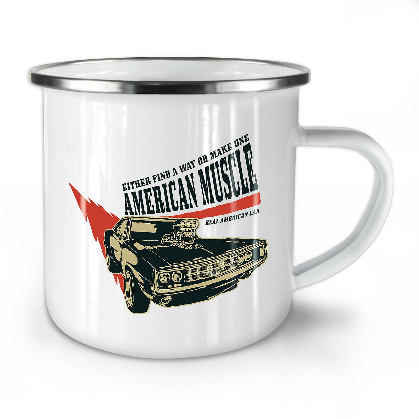 Nouveau Café OzWellcoda American Mug10 Émail Muscle Whitetea TKc31JlF