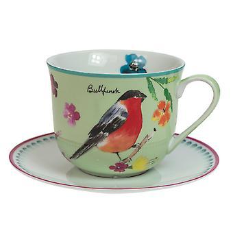 English Tableware Co. Garden Birds Breakfast Cup