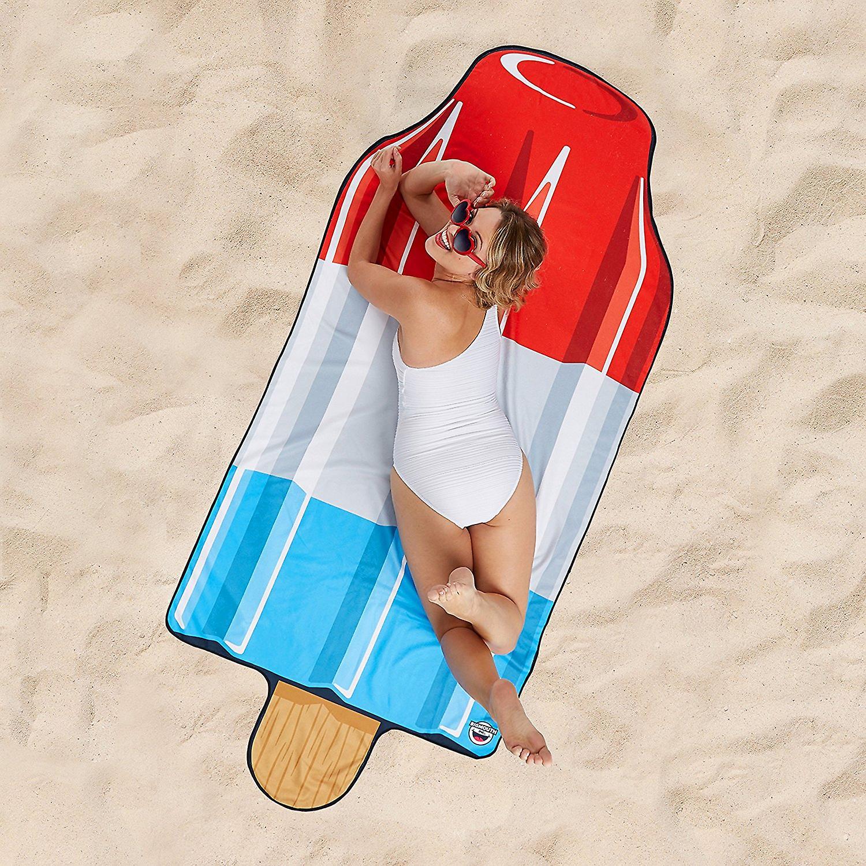 Beach towel ice cream towel Beach blanket ice cloth sheets 210 x 97 cm