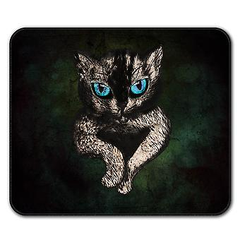 Blue Eyes Cute Furry Cat  Non-Slip Mouse Mat Pad 24cm x 20cm | Wellcoda