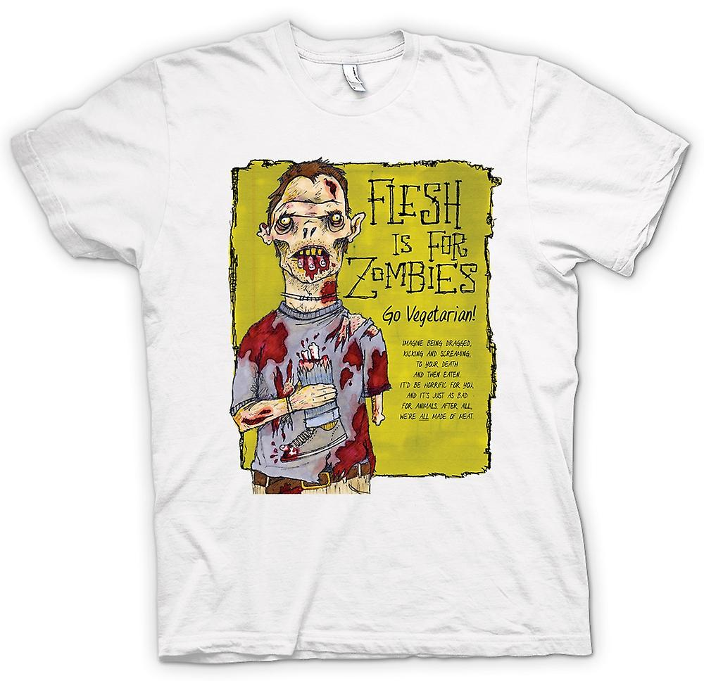 Heren T-shirt-vlees Is voor Zombies gaan vegetarisch