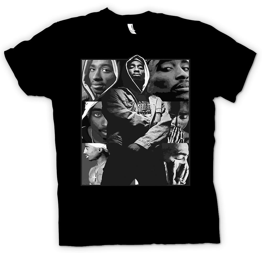 T-shirt - Tupac Collage - Hip Hop