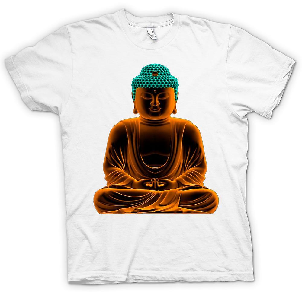Womens T-shirt - sereen Gouden Boeddha - geestelijke