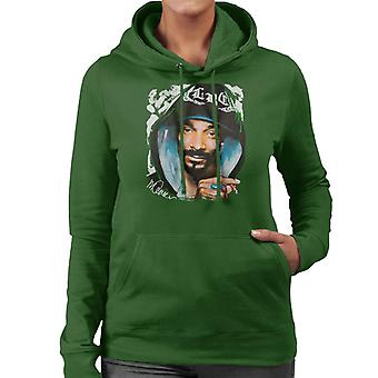 Sidney Maurer Original Portrait Of Snoop Dogg Smoking Women's Hooded Sweatshirt