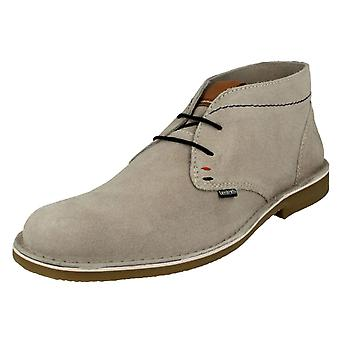 Mens Lambretta Lace Up Desert Boots Brighton - Light Beige Suede - UK Size 10 - EU Size 44 - US Size 11