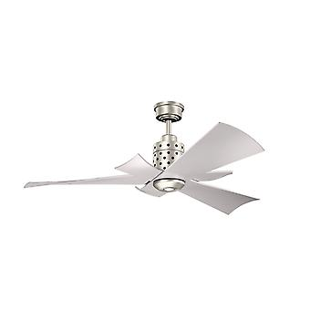 Kichler energy-saving ceiling fan Frey Nickel brushed with remote control 142 cm / 56