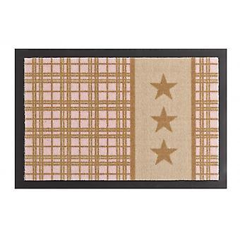 Paillasson saleté trappage coussin étoiles Plaid beige rose 40 x 60 cm