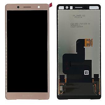 Sony LCD kompletna jednostka dla H8314 kompaktowy Xperia XZ2 wyświetlacza / H8324 pink nowe części zamienne