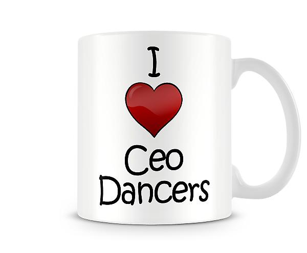 I Love Ceo Dancers Printed Mug