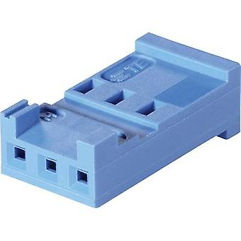TE Connectivity Socket enclosure - cable AMPMODU HE13/14 Total number of pins 6 Contact spacing: 2.54 mm 281838-6 1 pc(s)