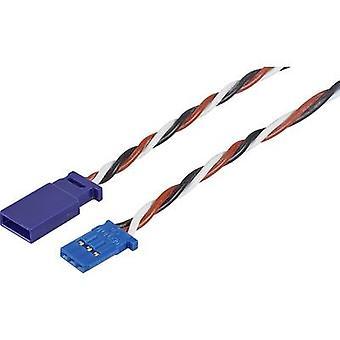 Servo Cable extension [1 x Futaba plug - 1 x Futaba socket] 250 mm 0,35 mm² silicium, torsadée Modelcraft