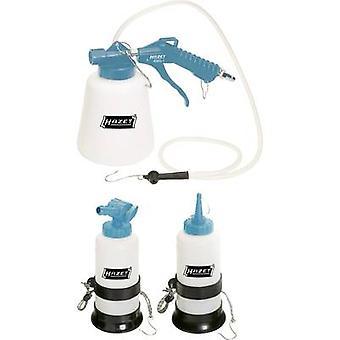Hazet 4969-1/3 pneumatic brake fluid bleeder set