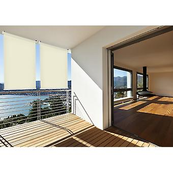 Sun protection outside rollo balcony rollo B: 140 x l: 230 cm beige balcony view protection cream 1 piece