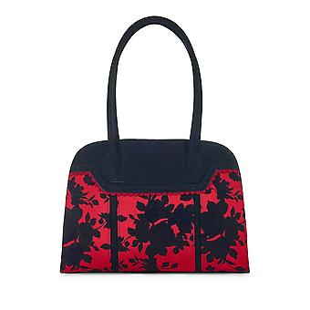 Ruby Shoo Womens Bag Monza Navy Red
