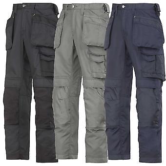 Calças de trabalho de verão leve Snickers com joelheiras e coldre bolsos-3211