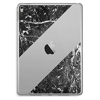 iPad Pro 9,7 inch Transparent Case (Soft) - Black marble