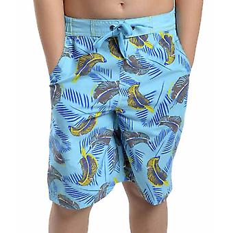 Boys Tom Franks Safari Print Summer Beach Swim Pool Shorts With Mesh Liner