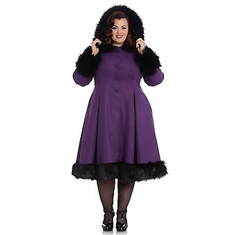 Hell Bunny Purple Hooded Elvira Coat XXL