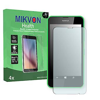 Nokia  Lumia 630 Dual Sim Screen Protector - Mikvon Health (Retail Package with accessories) (intentionally smaller than the display due to its curved surface)