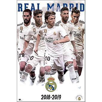 Real Madrid poster squadra stagione 2018 / 19 Ramos Asensio, Bale, Modric, ISCO.