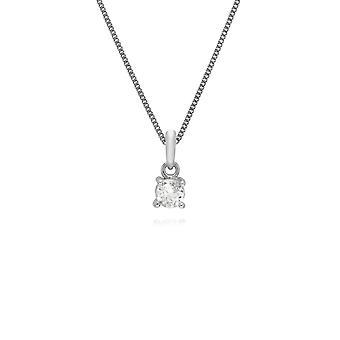 Gemondo 925 Sterlingsilber runden weißen Topas 45cm Halskette