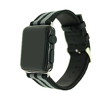 Nylon klockrem voor Apple Watch 4 44 mm, serie 3/2/1-42 mm Armegrön