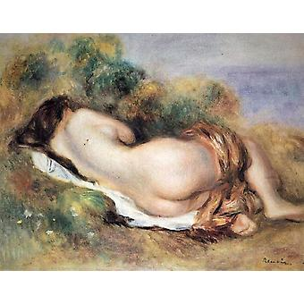 横たわる裸婦、ピエール ・ ルノワール 33.5 x41cm