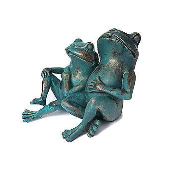 Frogs, water fountain for the garden 30x27x20 cm