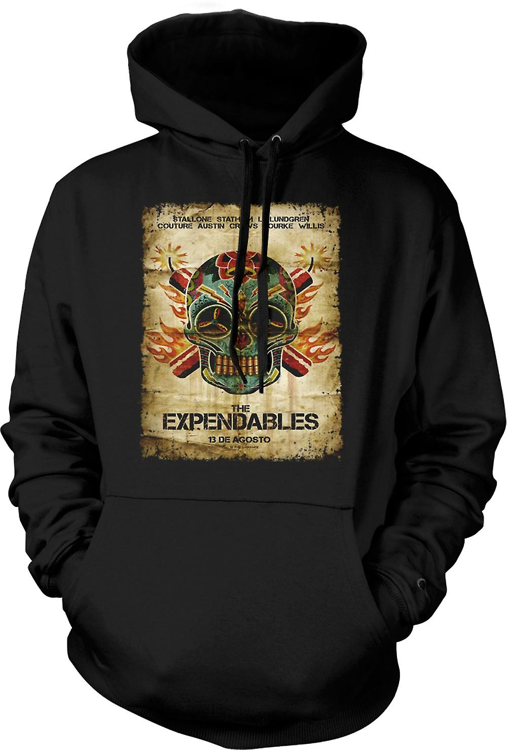 Mens Hoodie - die Expendables - B-Movie - Poster