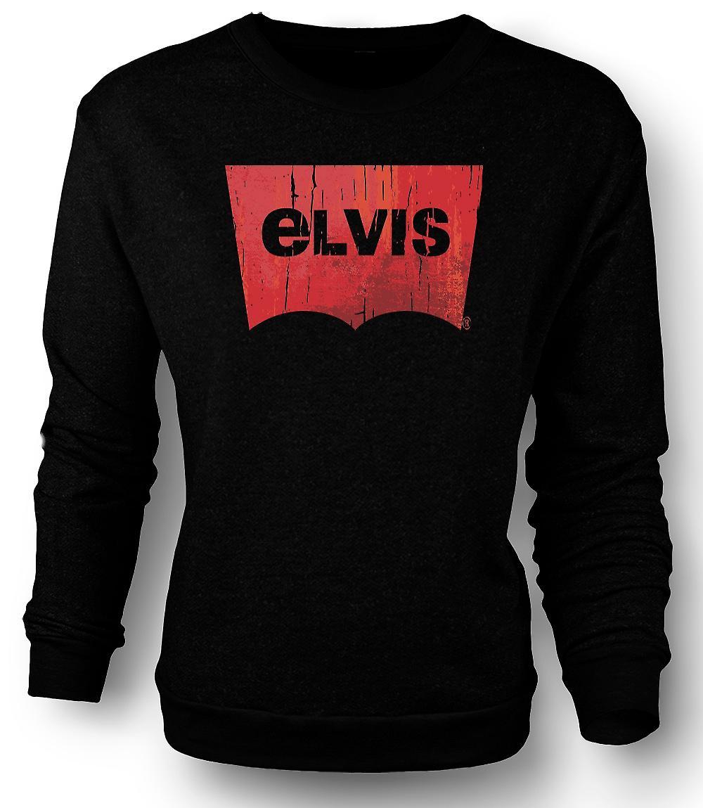 Mens Sweatshirt Elvis - Levis inspirerad